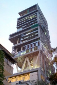 Antilla House own by Mukesh Ambani